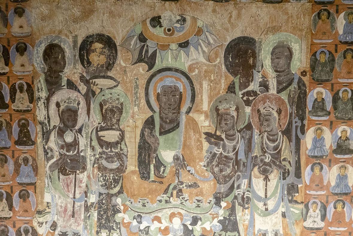 這是位於419號洞窟內的其中一幅壁畫。(圖片來源:Getty)