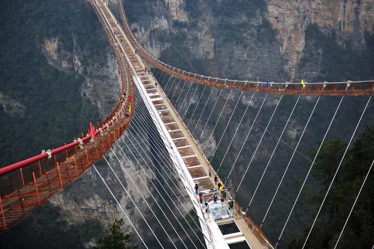 當代中國-中國旅遊-張家界玻璃橋