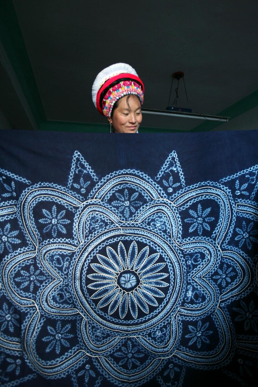 當代中國-中國文化-白族扎染脫貧