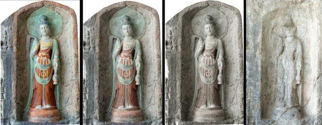 龍門石窟修復文物