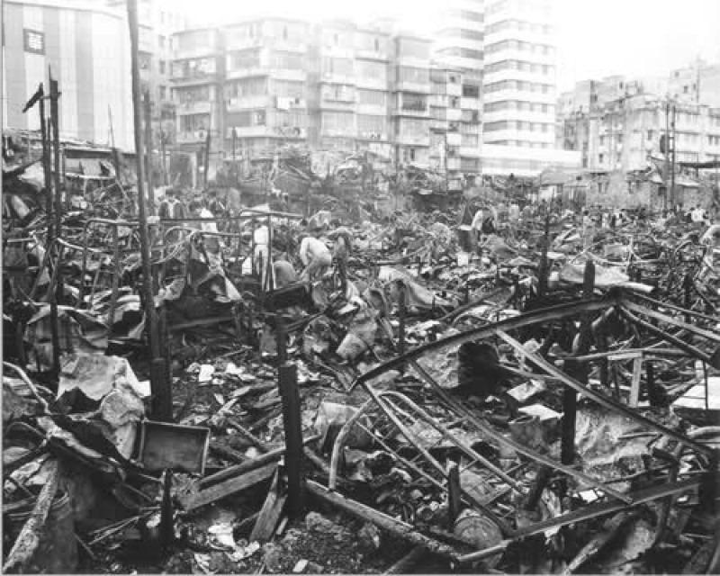 逾3000人在1976年的大年初二的筲箕灣大火喪失家園,他們後來獲政府安排入住公屋及徙置區。(網上圖片)