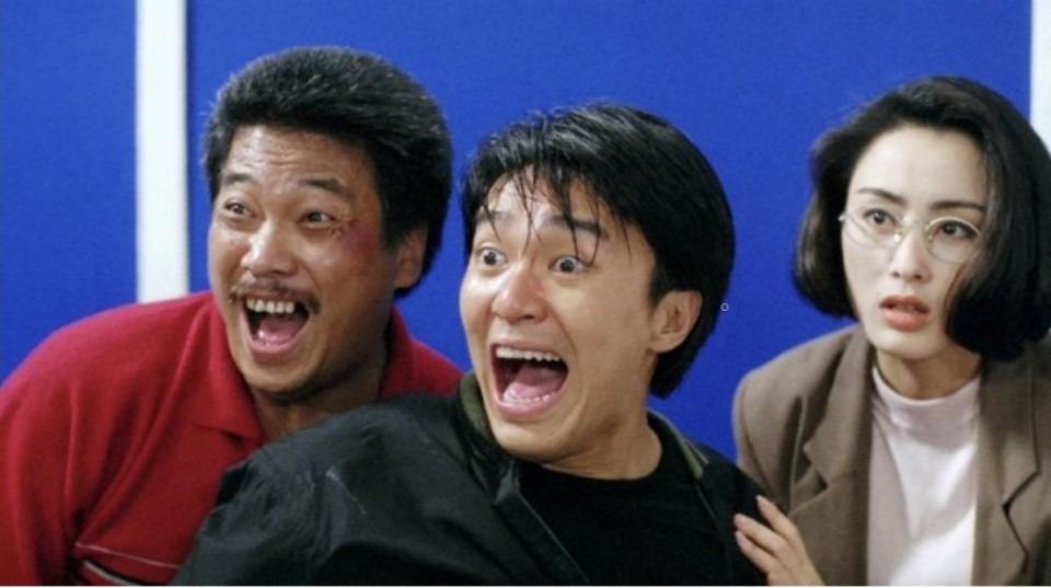電影《逃龍威龍》系列,吳孟達、周星馳和張敏為觀眾製造了不少笑彈。(網上圖片)