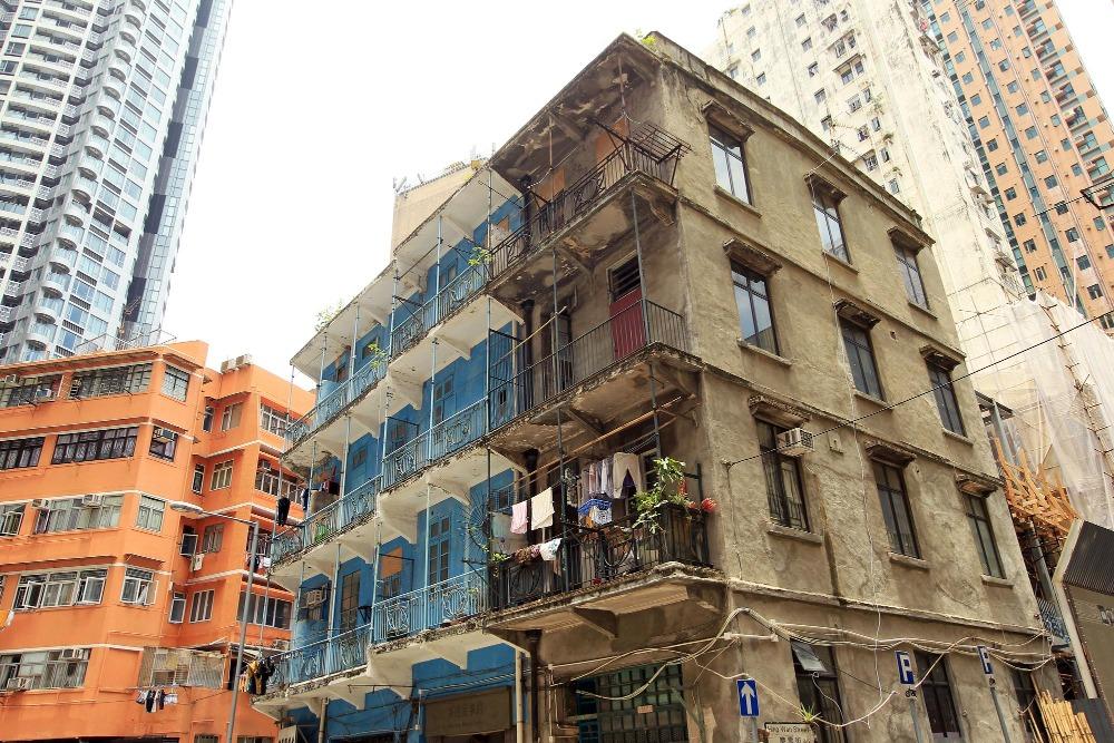當代中國-粵港澳大灣區-香港文化-唐樓-藍屋-灣仔-3