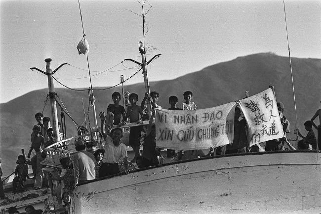 香港歷史上,港英政府基於人道理由,在1979年簽署《日內瓦公約》,使香港成為「第一收容港」,回歸前曾接收20萬越南難民。(網上圖片)