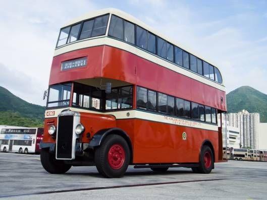 1949年九巴引入的「丹拿A型」雙層巴士。(圖片來源:九巴)