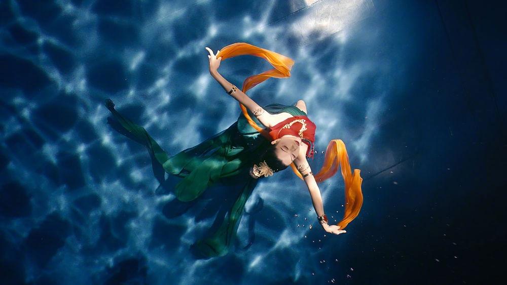 中國文化水下洛神01