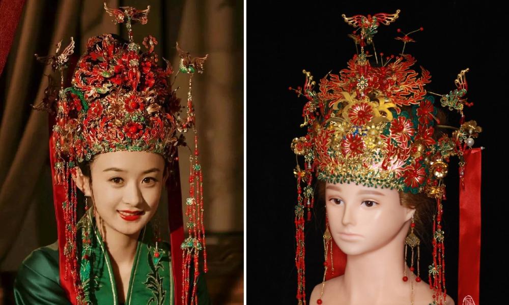 中國文化-國風頭飾-創意傳承-知否應是綠肥紅瘦02