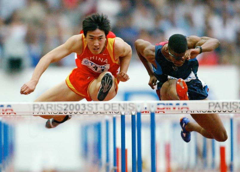 2003年,劉翔在巴黎舉行的第九屆世界田徑錦標賽男子110米欄決賽中,以13秒23的成績獲得銅牌。(圖片來源:Getty)