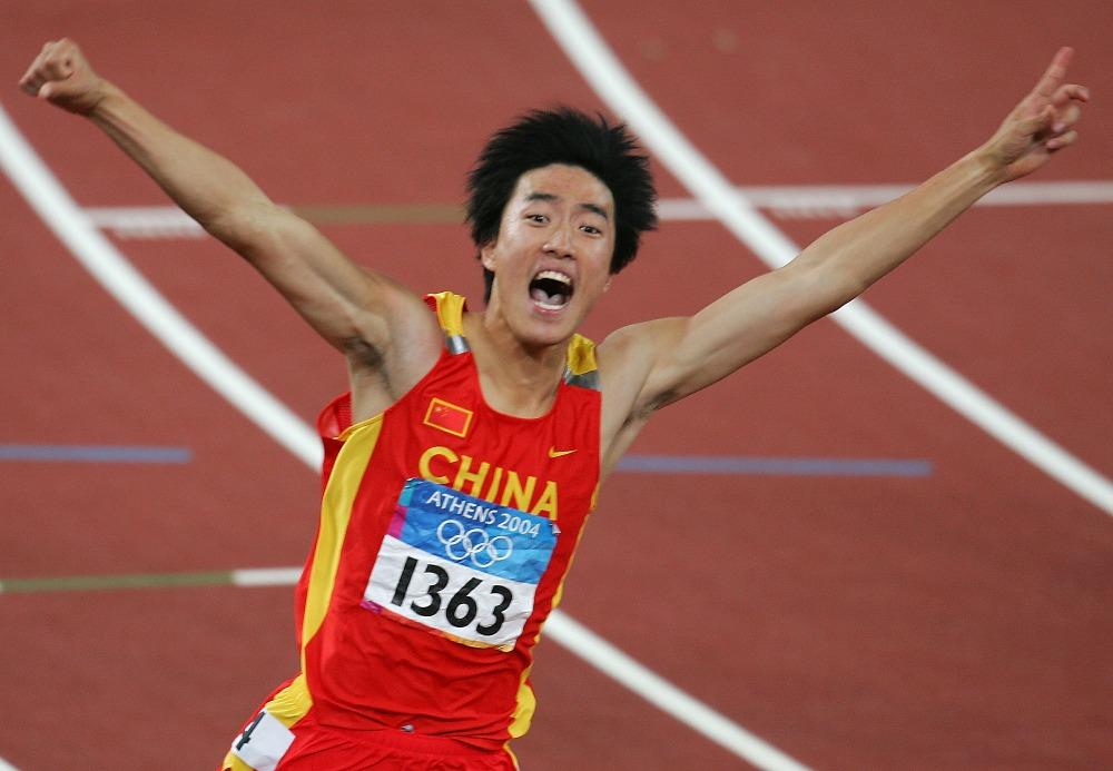 2004年雅典奧運,劉翔替中國奪得首面男子田徑奧運金牌。(圖片來源:Getty)