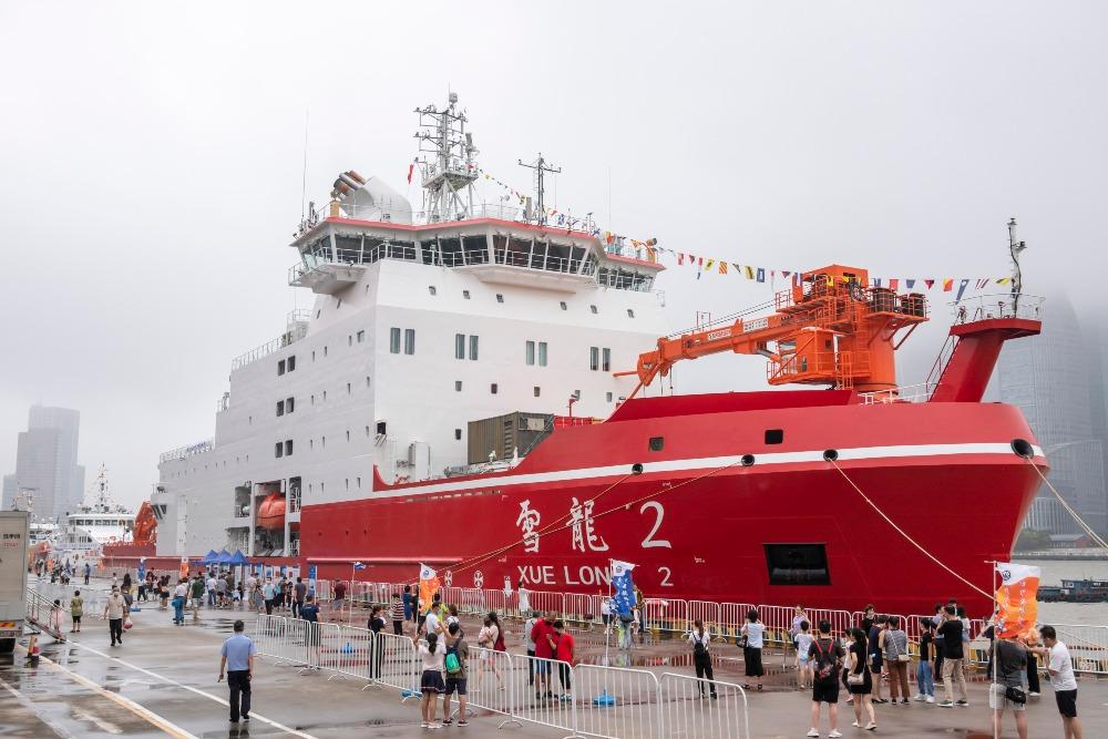 中國自主研發的破冰船「雪龍2」號,2016年起建造,2019年10月首次啟航南極。(圖片來源:Getty)