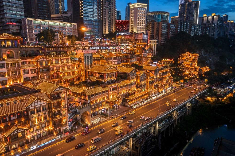 當代中國-中國旅遊-中國文化-重慶-洪崖洞1