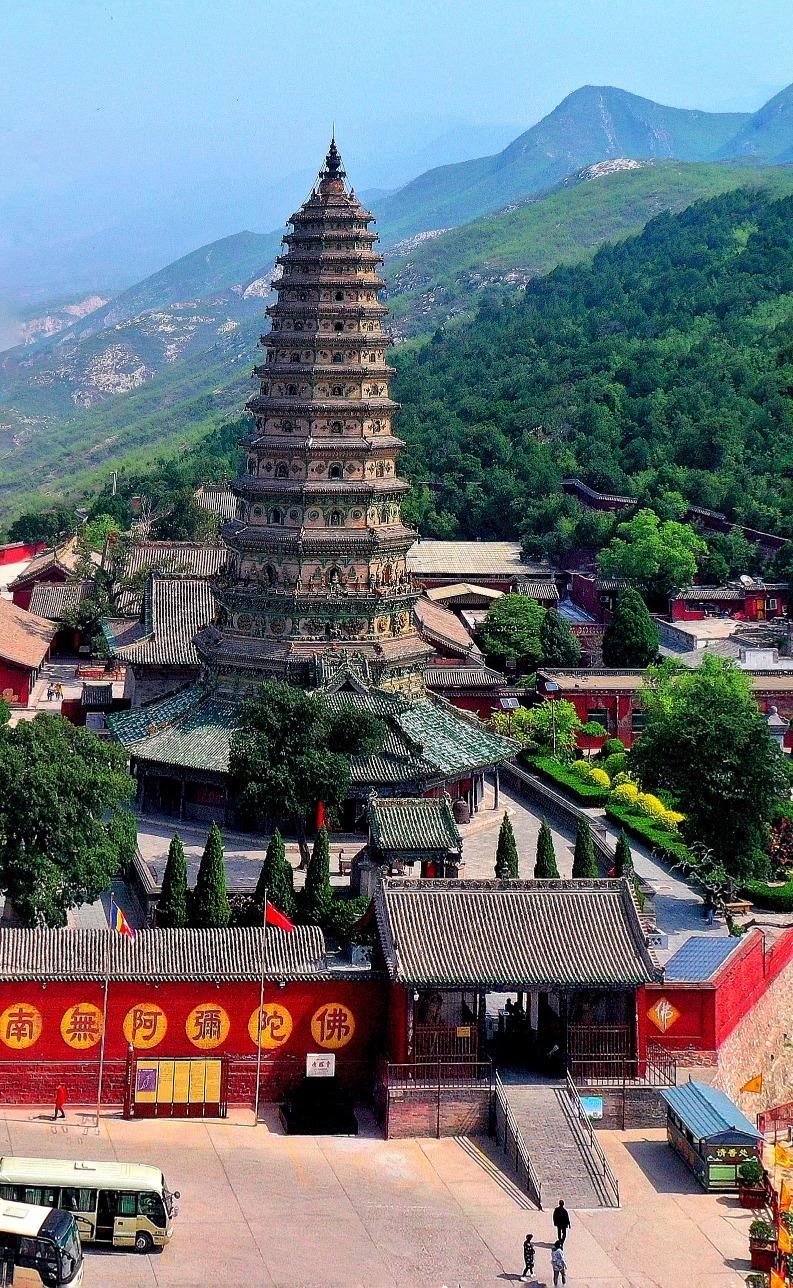 當代中國-中國旅遊-中國文化-中國四大名塔-中式塔-山西-廣勝寺-飛虹塔