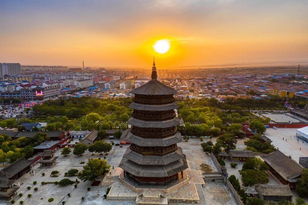 當代中國-中國旅遊-中國文化-中國四大名塔-中式塔-山西-應縣木塔