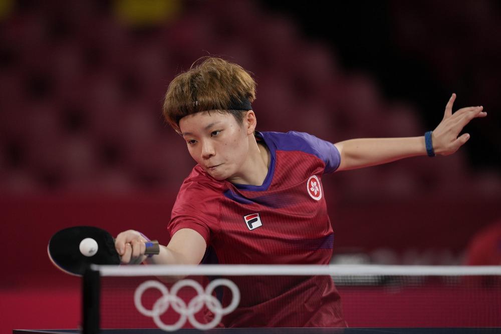 當代中國-體育運動-女子乒乓球單打陳夢淘汰杜凱琹