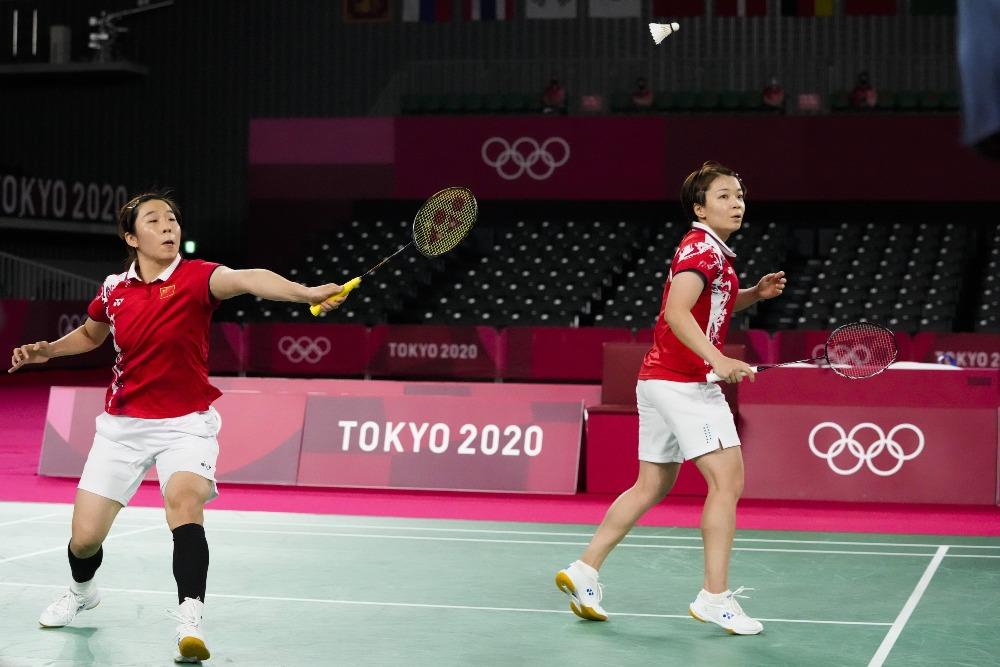 當代中國-體育運動-女子羽毛球雙打中國隊晉級決賽