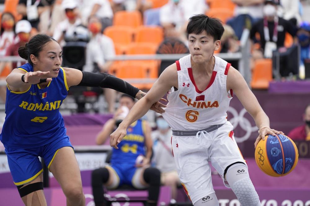 當代中國-體育運動-東京奧運中國三人女子籃球衝擊獎牌