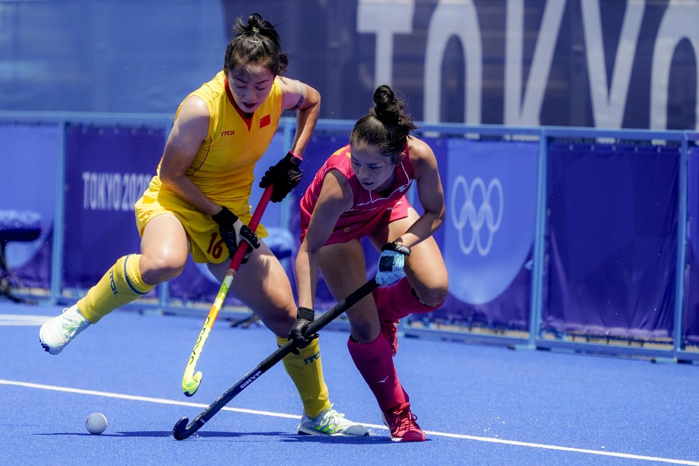 當代中國-體育運動-東京奧運中國女子曲棍球首場獲勝