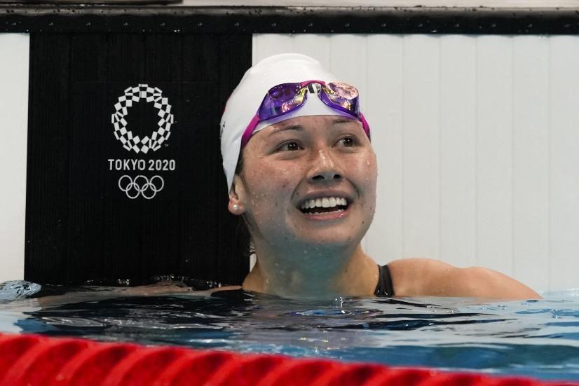 當代中國-體育運動-東京奧運何詩蓓進入100米自由泳決賽