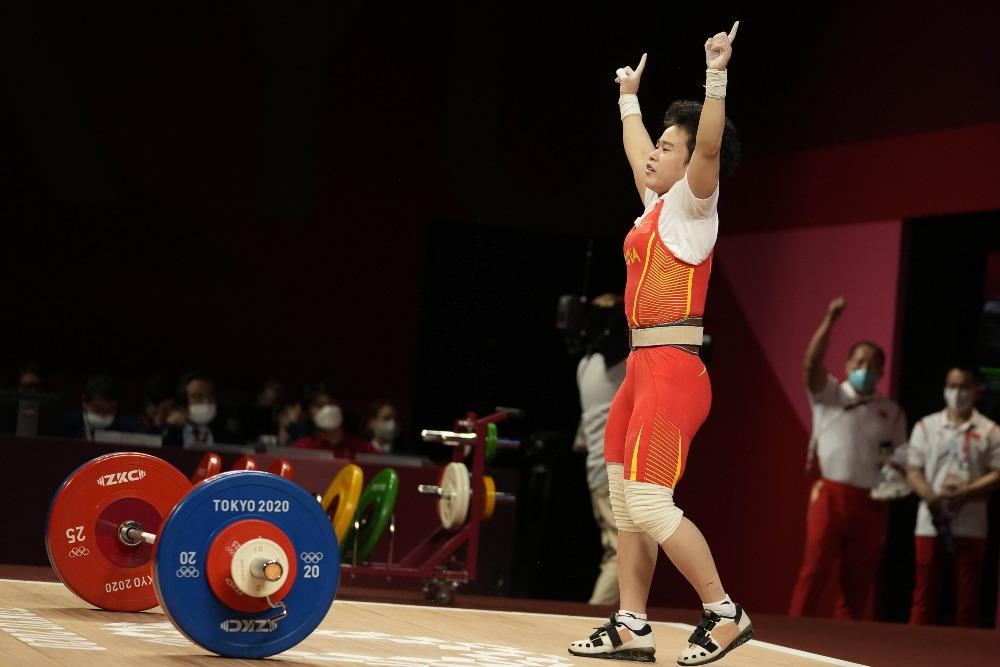 當代中國-體育運動-東京奧運侯志慧打破三項奧運紀錄奪得49公斤級舉重金牌