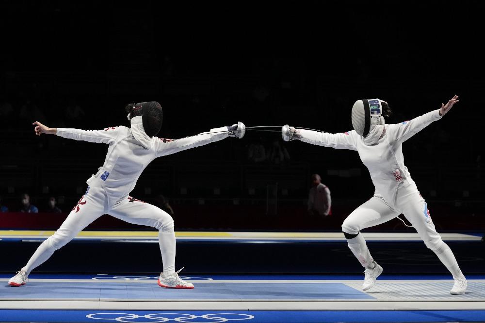 當代中國-體育運動-東京奧運女子重劍江旻憓8強止步