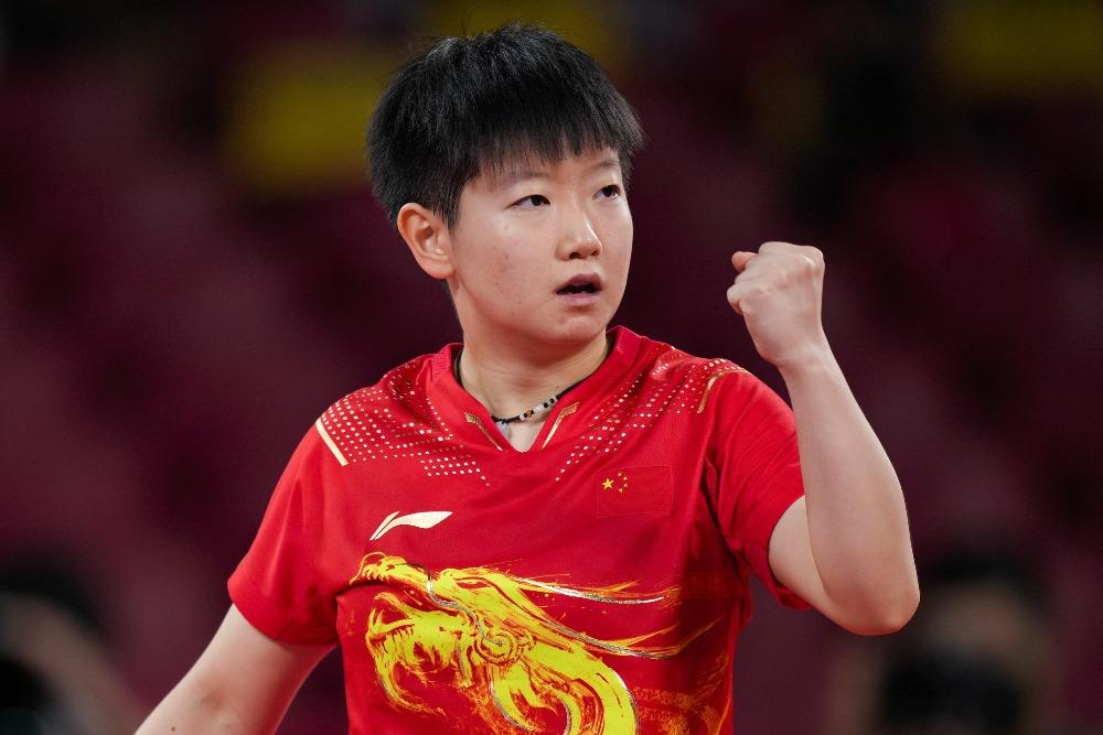 當代中國-體育運動-東京奧運孫穎莎擊敗伊藤美誠進入決賽