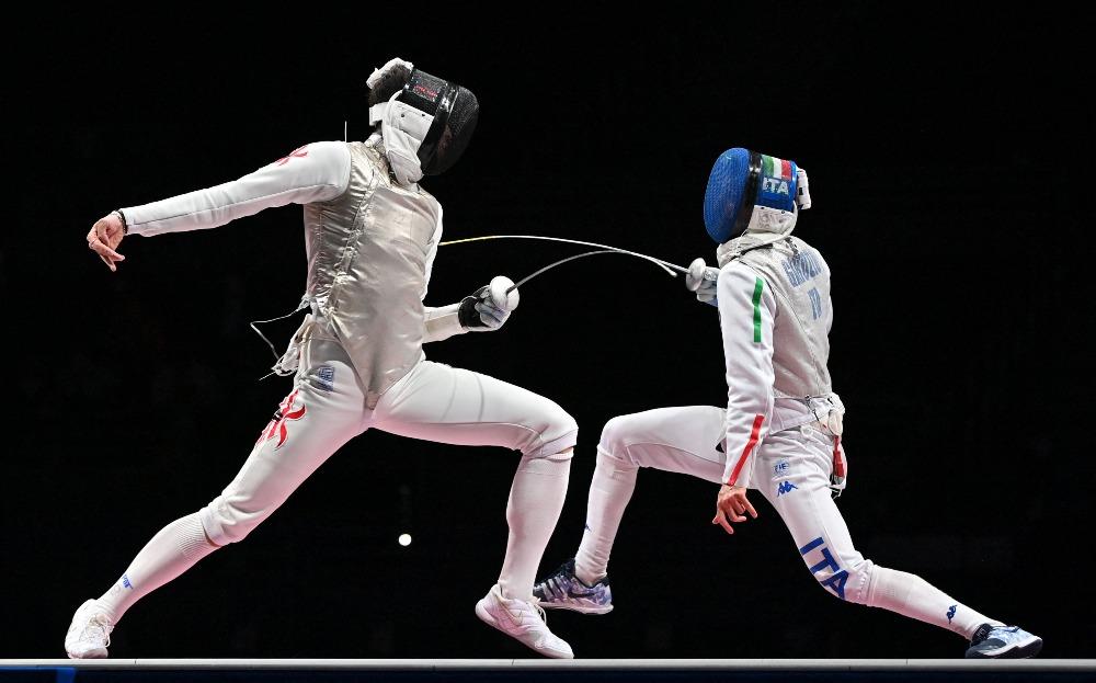 當代中國-體育運動-東京奧運張家朗奪金