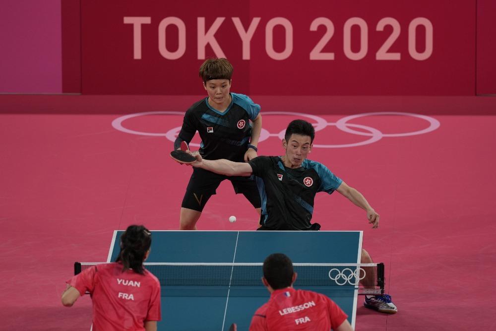 當代中國-體育運動-東京奧運港隊黃鎮廷林凱琹無緣4強