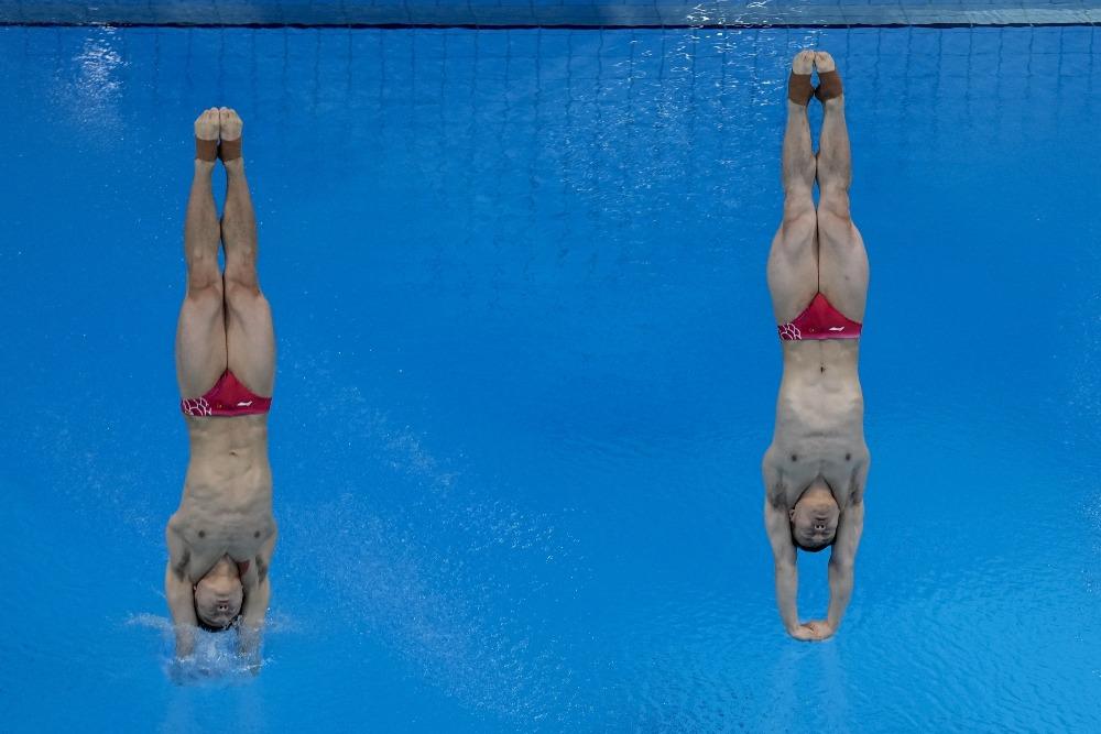 當代中國-體育運動-東京奧運王宗源謝思埸3米跳板奪金