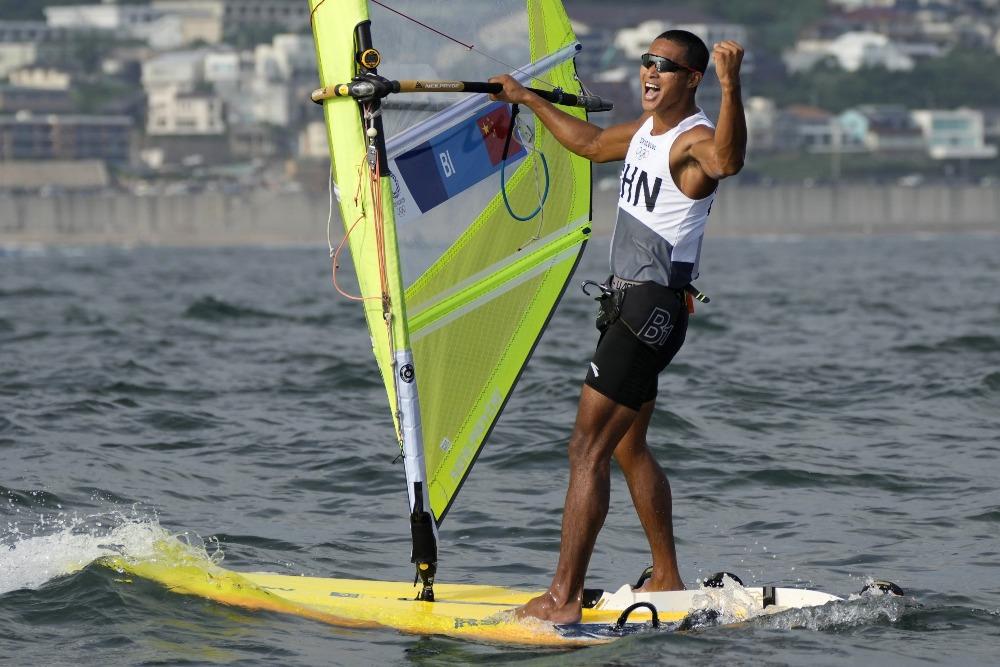 當代中國-體育運動-東京奧運畢焜獲得男子滑浪風帆銅牌