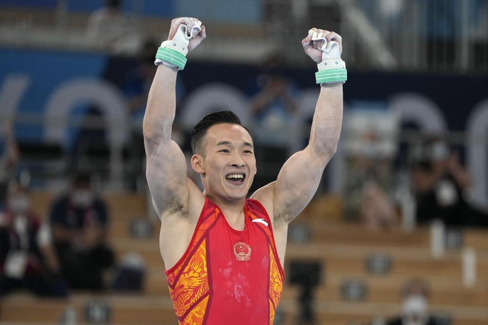 代中國-體育運動-東京奧運肖若騰男子個人體操全能