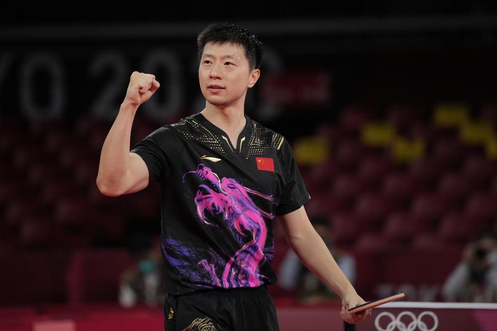 當代中國-體育運動-東京奧運馬龍衛冕乒乓球男單冠軍