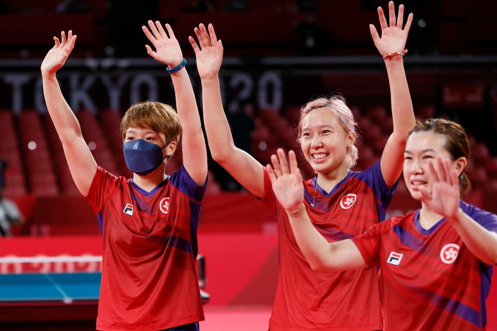 東京奧運-女子乒乓港隊