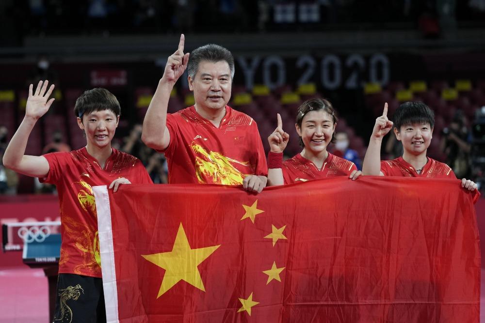 東京奧運-女子團體乒乓-中國隊金牌