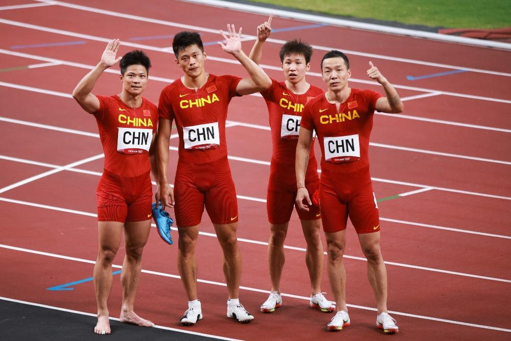 當代中國-體育運動-東京奧運中國男子接力隊獲得第四