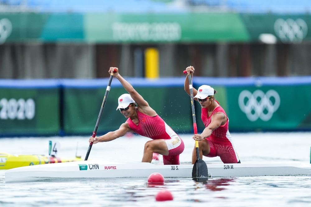 當代中國-體育運動-東京奧運徐詩曉孫夢雅奪得華庭金牌