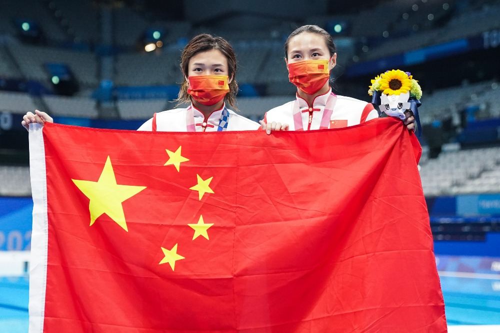 當代中國-體育運動-東京奧運施廷懋王涵分別奪3米板金銀牌