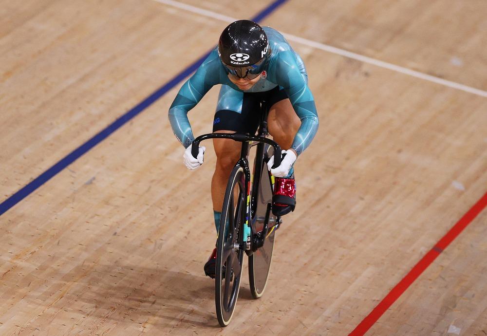 當代中國-體育運動-東京奧運李慧詩單車爭先賽奪得銅牌