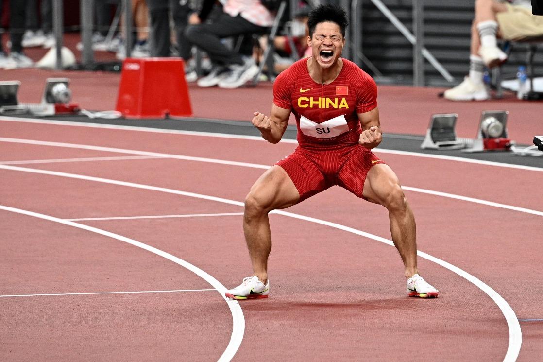 當代中國-體育運動-東京奧運蘇炳添100米短跑決賽獲第六名