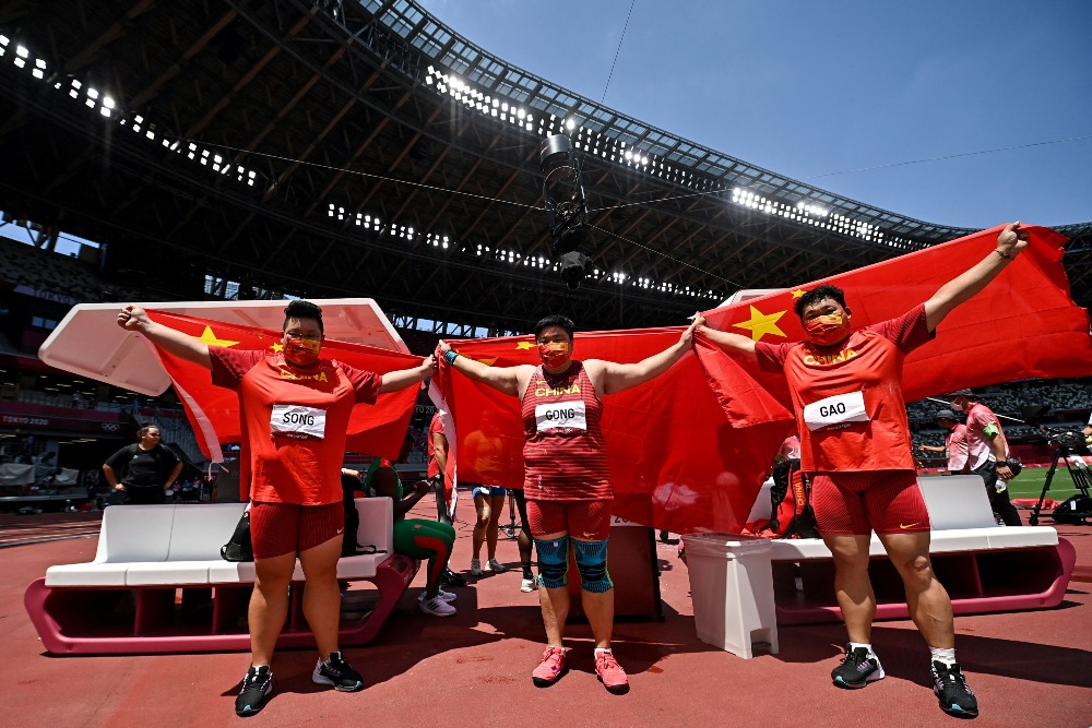 當代中國-體育運動-東京奧運鞏立姣女子鉛球奪金