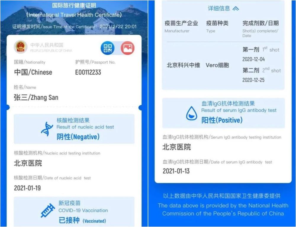當代中國-中國新聞-國際健康碼1