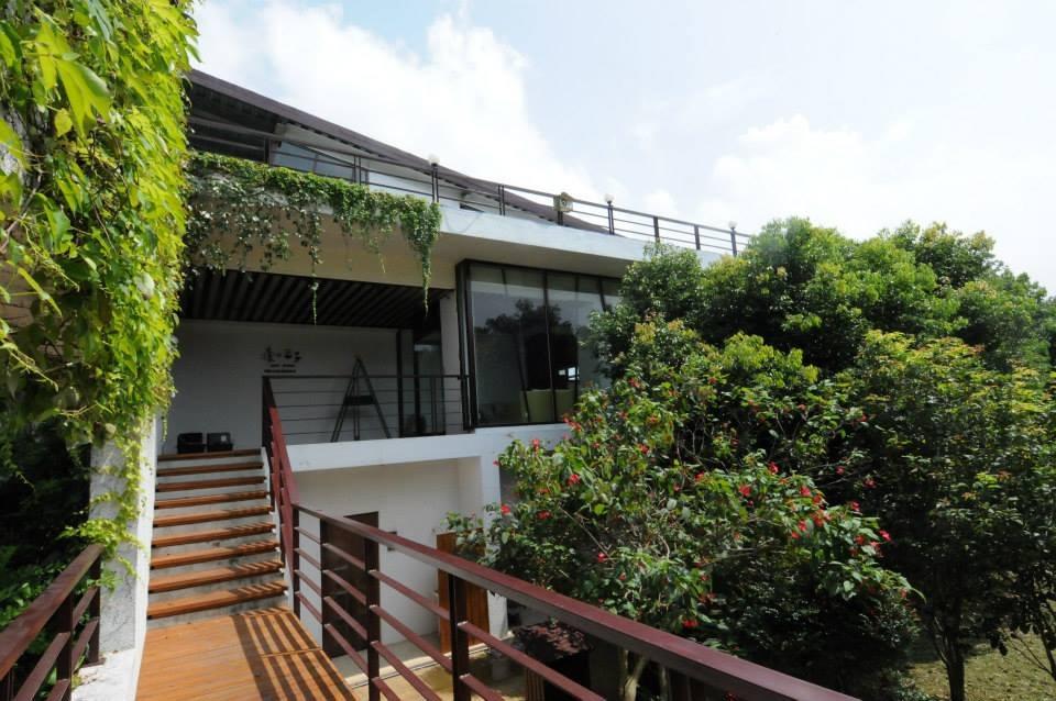 民宿1樓是客房,旁邊的是獨立的木屋住宿區,二樓為落玻璃設計而成的景觀餐廳。 (圖片來源:森之王子民宿Facebook)