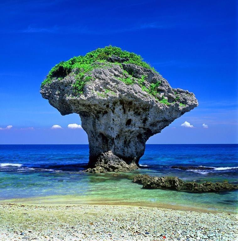 小琉球是台灣眾多島嶼中,唯一的珊瑚島礁,島上有名的天然奇景「花瓶石」。