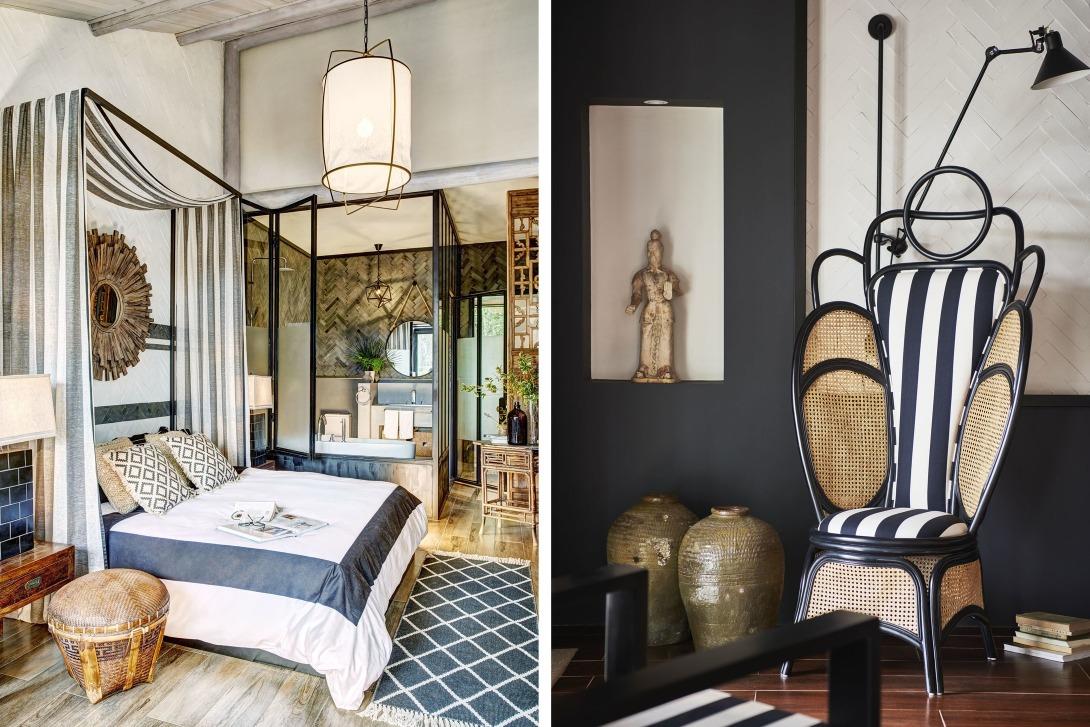 設計師將歐洲的摩登的格調與東方的穩重並存於室內設計當中。