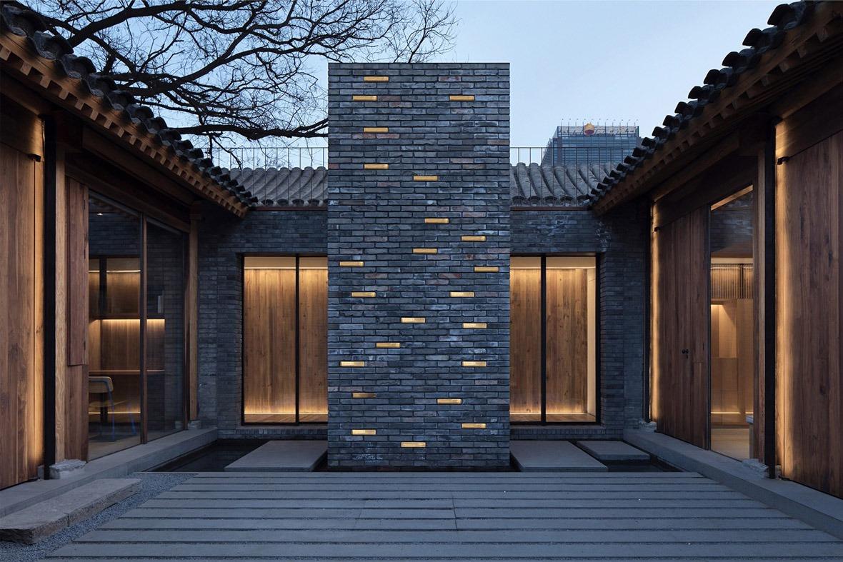 設計師保留了舊式院子的建築格局,以原基礎上改造出符合現代建築的美學作品。