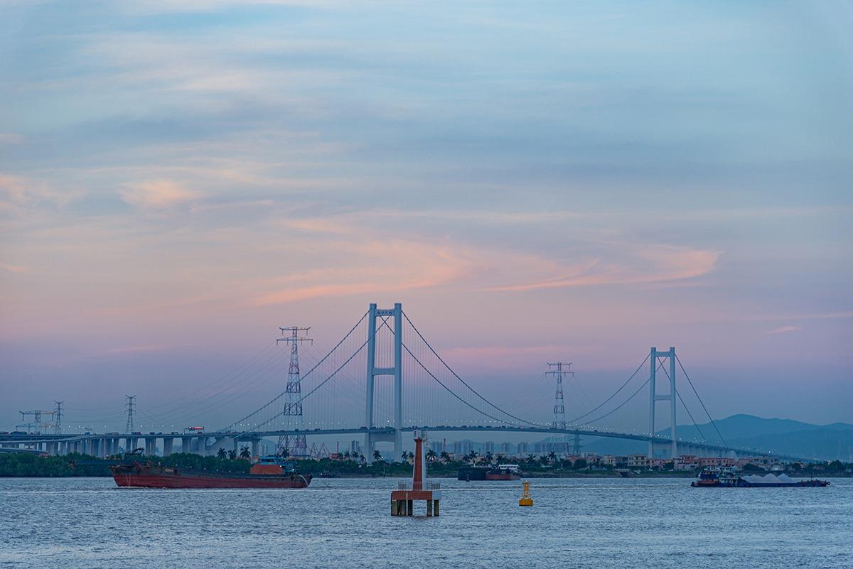 如果時間許可,更可欣賞南沙大橋夕陽美景!