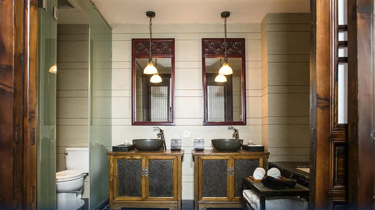 客間內的洗手間,採用分融式設計,十分整潔。