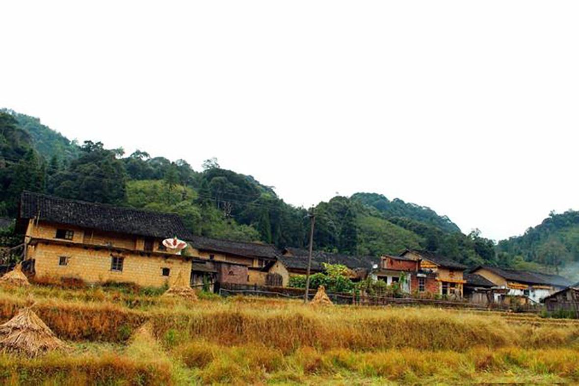 風景區內的瑤族民居,樸實簡約。