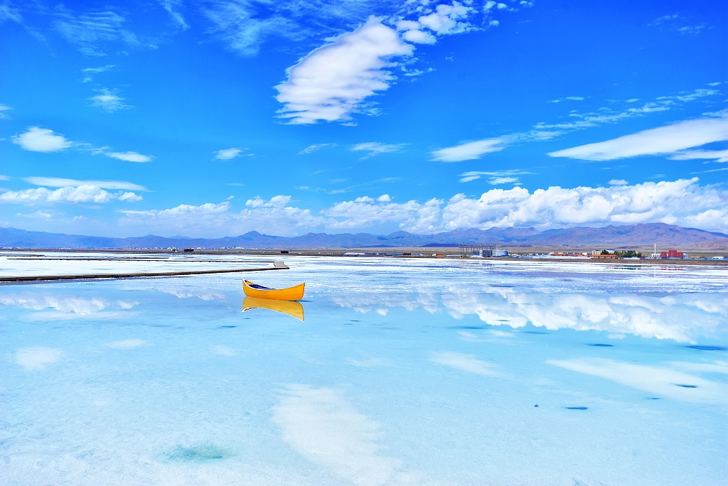 當代中國-潮遊生活-旅遊風物-茶卡鹽湖