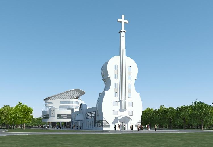 當代中國-中國旅遊-廣東旅遊-佛山-佛山小提琴教堂-01