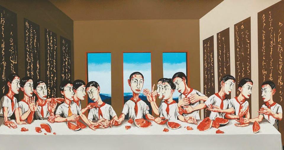2013年,在香港蘇富比拍賣會上,他的《最後的晚餐》 以人民幣1.55億賣出,成為亞洲當代藝術品第一件過億的作品。(圖片來源:網上圖片)